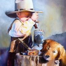 M.S. Hollis oil painting American Plains Artists Signature Member