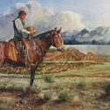 Moss, Jack Thanks Lord - Good Rain, Green Grass, Great Horse Watercolor Best Plains Church