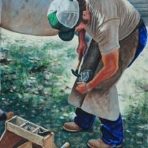 Bill Scheidt oil painting American Plains Artists Signature Member