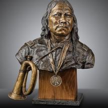 Burneta Venosdel bronze sculpture American Plains Artists Signature Member