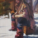Barnes, Cliff Man of the Plains Oil 10 x 8 $1,100