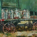 Barnes, Cliff Milk Cans WC 10 x 14 $1,600.