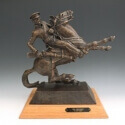 Coffee Bob Big Trouble Bronze 12 x 12 $3,500.00