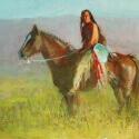 Conrad Bonnie Lakota Shield Bearer Oil 14 x 18 $2,200.00
