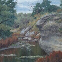 Groesser, Debra Joy The Watering Hole Oil 14x18 $1,800