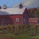 Grosser Debra Joy Autumn Day at the Farm Oil 12 x 30 $1,900.00