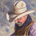 Irvin Mike Larry Oil 14 x 14 $1,100.00