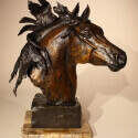 Kaiser, HR Heather The Guardian Bronze 13hx7.5wx10d $2,200.