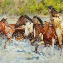Publishers Award Art of the West $1185 value and Exhibition Award Ft. Concho Jennifer Hunter Fresh Horses