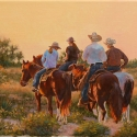 Roush Cheryl Early Morning Ride Oil 11 x 14 $1,700.00