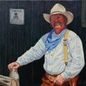 Scheidt Bill Long Arm of the Law Oil 16 x 20 $1,600.00