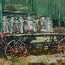 Cliff Barnes Watercolor painting American Plains Artists Signature Member
