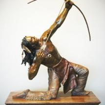 Jammey Huggins bronze sculpture American Plains Artists Signature Member