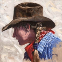 Mike Irvin oil painting American Plains Artists Signature Member