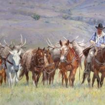 Sherry Blanchard Stuart oil painting American Plains Artists Signature Member
