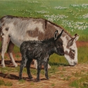 "Roush, Cheryl Mama&#039 ""Mama's Little Foal"" Oil 12""x16"" $1,100.00"