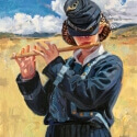 Edwards Barbara S Young Fifer Oil 20 x 16 $2,400.00