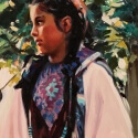 Edwards Barbara S In the Trees Oil 16 x 12 $1,500.00