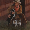 Green Jean G Pup Roundup Oil 20 x 16 $2,400.00