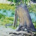 McElroy, J.I. Rubbing Tree Acrylic 20x16 $1,750.