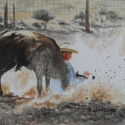 McElroy Judy In a Cloud of Dirt WC 5 x 7 $1,200.00