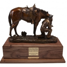 Michael Mary bronze American Plains Artists Signature Member