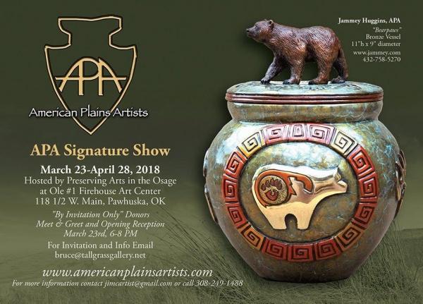American Plains Artists Signature Show Invitation