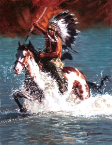 Ready for Battle oil painting by Glen Edwards